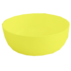 3 Inch - Bonchina Bowl - Vatti - Katori - Made Of Food-Gradualness Virgin Plastic - Yellow Color