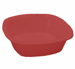4 Inch - Square Bowls - Curry Bowls - Made Of Food-Grade Regular Plastic - Brown Color