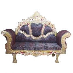 Multi Color -Premium Jaipur - Jodhpuri Metals - Heavy - Couches - Sofa - Wedding Sofa - Wedding Couches - Made Of Wooden & Metal