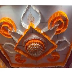 15 FT X 15 FT - Designer Mandap Ceiling Cloth - Top 14 KG Taiwan - Design Brite Lycra Cloth - Multi Color