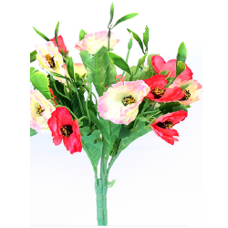 Height 16 Inch - Anemon 7 Stick Bunch -  AF- 264 - Leaf Bunch - Multi Color