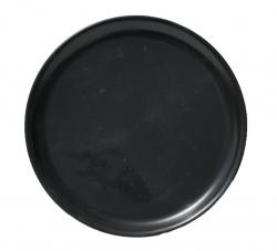 8 Inch Quarter Plate - Made Of Food-Grade Plastic Material - Round Shape - Black Color