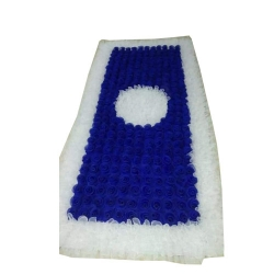 4 FT X 8 FT - Artificial Flower Panel - Back Material Taiwan Cloth - Blue & White Color
