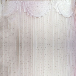 10 FT X 20 FT - Designer Curtain - Parda - Stage Parda - Wedding Curtain - Mandap Parda - Back Ground Curtain - Side Curtain - Made Of 24 Gauge Brite Lycra - White Color