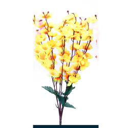 Height 21 Inch - Blossom Bunch X 7 Stick - AF - 358 - Leaf Bunch - Yellow Color