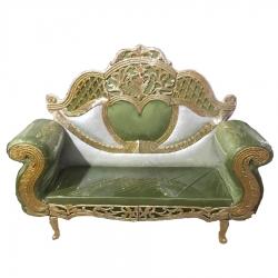 Mehendi & Golden Color - Regular - Couches - Sofa - Wedding Sofa - Maharaja Sofa - Wedding Couches - Made Of Wooden & Metal.