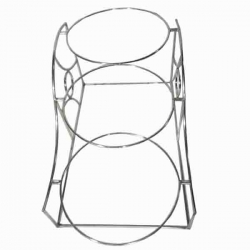8 Inch - Salad Stand - Three Tier Ring Shaped Racks - Made of Stainless Steel