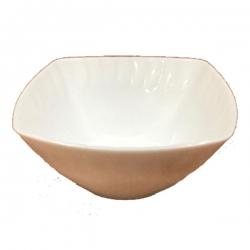 3.5 Inch - Square Katori - Bowls - Curry Bowls - Dessert Bowls - Made Of Food Grade Virgin Plastic - White Color