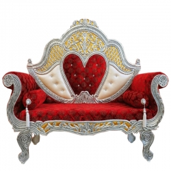 Maroon Color - Heavy Premium Metal Jaipur Couches - Sofa - Wedding Sofa - Wedding Couches - Made Of High Quality Metal & Wooden