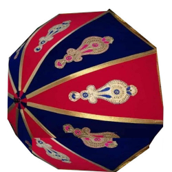 4.5 FT - Finish Fancy Umbrella - With Stand - Wedding Umbrella - Red Color