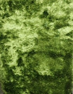 3 FT X 4 FT -  Fur Floor Carpet  Single Side - Decorative Carpet - Green Color