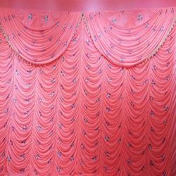 12 FT X 18 FT - Designer Curtain - Parda - Stage Parda - Wedding Curtain - Mandap Parda - Back Ground Curtain - Side Curtain - Made Of 24 Gauge Brite Lycra - Multi Color