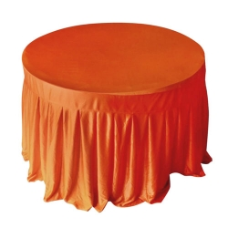 4 FT x 4 FT - Round Table Cover - Made of Premium Quality Lycra Cloth - Orange Color