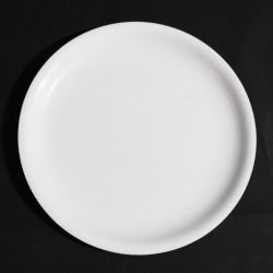 11 Inch - Dinner Plate - Made of Food Grade Acrylic - Round Shape - White Color