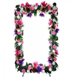 7 FT - Selfie Square Stand - Artificial Flower Stand - Multi Color