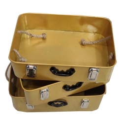 16 INCH,15 INCH,14 INCH - Basket Set - Made Of Iron - Set Of 3