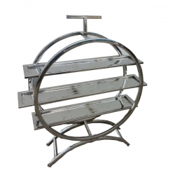 40 Inch Stainless Steel Fancy Salad Stand - 3 Tier Round Shaped Racks