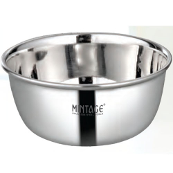 6 Inch - Bowl Pearl - Plane Bowl - Mirror Finish - Made Of Stainless Steel - Set Of 6