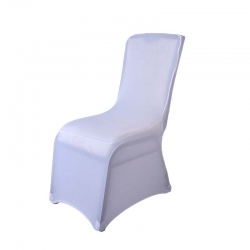 Four way Chair cover High Quality Spandex Chair Covers Wedding Universal Fit Size - White Color .