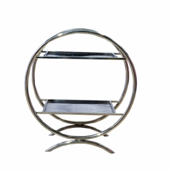 2.5 FT - Two Tier Salad Stand - Spoon Stand - Made of Stainless Steel.