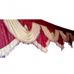 20 FT X 24 Inch - Jhalar - Mandap Jhalar For Wedding & Party - Made Of Heavy Brite Lycra Cloth