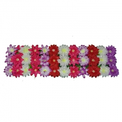 4 Feet Plastic Artificial Flower Pannel - Main Door Hanging For Wedding & Decoration ( With out foam at back )