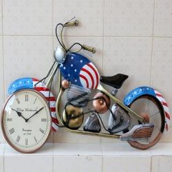 Bike Watch - Iron Metal Bullet Bike - Wall Decor Iron Handicraft.