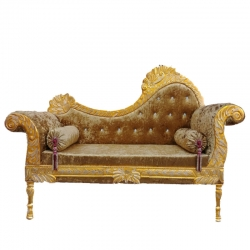 Mehendi Color - Heavy Premium Metal Jaipur Couches - Sofa - Wedding Sofa - Wedding Couches - Made of High Quality Metal & Wooden