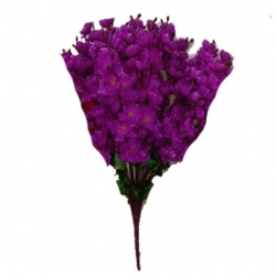 Purple Color - Plastic Artificial Flower - Artificial Cherry Blossom - Flower Bouch - Flower Stick - Made of Plastic  - Size (2 FT )