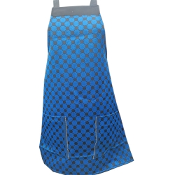 Cotton Kitchen Apron - With Front Pocket - Blue Color