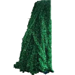 Decoration Plain Fur - For Function - Dark Green Color