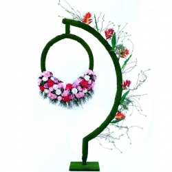 7.5 FT - Selfie Stand - Artificial Flower Stand - Flower Decoration - Multi Color