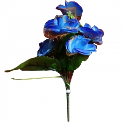 Artificial Flower Bunches - Fake Flowers Artificial Plant For Wedding - Reception - Blue Color