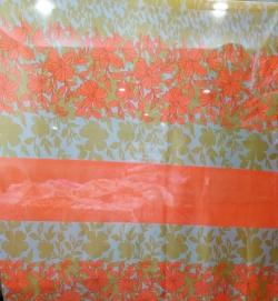 5 FT Printed Brite Lycra Cloth - 24 Gauge - 60 Inch Panna - Multi color