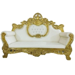 White Color - Regular Sofa - Couches - Wedding Sofa - Made of Wooden & Paint Finish