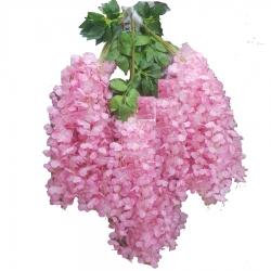 2 FT - Plastic Artificial Flower - Latkan - Flower Decoration - Light Pink Color - (1 Packet - 12 Piece Leaf )