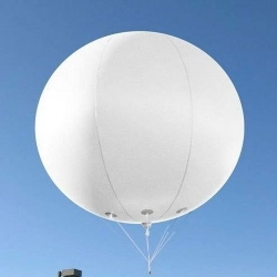 10 FT X 10 FT - Plain Sky Advertising Balloon - PVC Balloon with Rope (10 Meter) - White Color