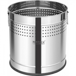 40 LTR - Planter - Dustbin - Round Planter - With Side Handle - Made Of Stainless Steel