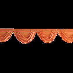 24 FT - Designer Zalar - Scallop Zalar - Kantha - Jhalar - Made Of Lycra - Orange Color