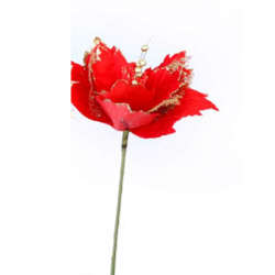 Height - 24 Inch - Jari Flower Stick - Artificial Stick - AF- 479 - Stick - Red Color