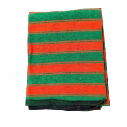 7 FT X 10 FT - Regular Quality - Dari - Dhurrie - Rugs - Satranji - Floor Mat - Red & Green color - Weight - 2.5 Kg