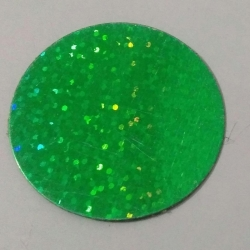 2 INCH - Artificial plastic Sparkle Sikka - Green Color