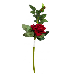 Height -18 Inch - Rose Flower Stick - Artificial Stick - AF- 168 - Stick - Red Color