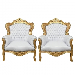 White Color - Heavy Premium - Sofa Chair - Couches - Wedding Sofa Chair - Made of Wooden Paint