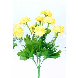 Height 16 Inch - Deliya Bunch - AF- 562 - Leaf Bunch - Yellow Color