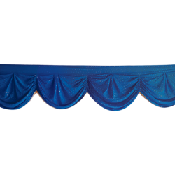 15 FT - Designer Zalar - Scallop Zalar - Kantha - Jhalar - Made of Lycra with Tipki - Royal Blue Color