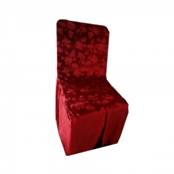Chandni Chair Cover Without Handle For Plastic Chair - Brown Color