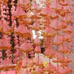 6 Feet - Hanging Latkon - Wall Hanging -  Door Latkan - Light Pink Color