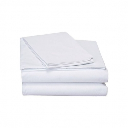 Single White Cotton Bed sheet with Pillow Cover (1 Pair..