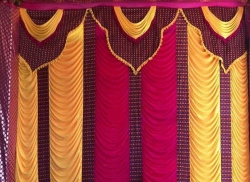 10 FT X 15 FT - Designer Curtain - Parda - Stage Parda - Wedding Curtain - Mandap Parda - Back Ground Curtain - Side Curtain - Brite Lycra - Multi Color